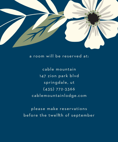 Rustic Blooms Accommodation Cards