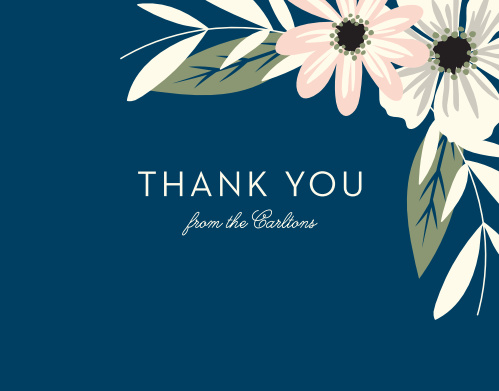 Rustic Blooms Thank You Cards