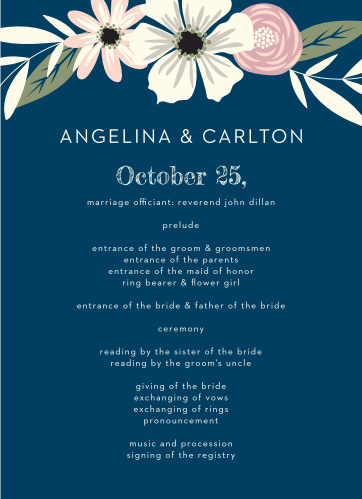 Rustic Blooms Wedding Programs