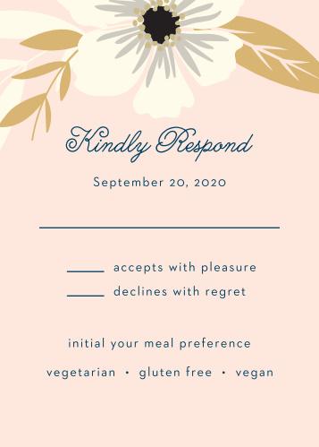 Rustic Blooms Foil Response Cards