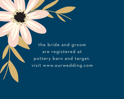 Rustic Blooms Foil Registry Cards