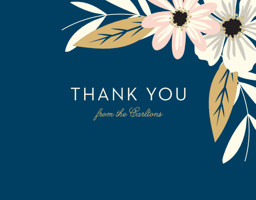Rustic Blooms Foil Thank You Cards