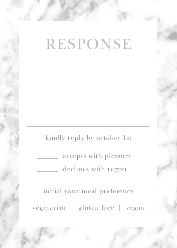 Cool Marble Response Cards