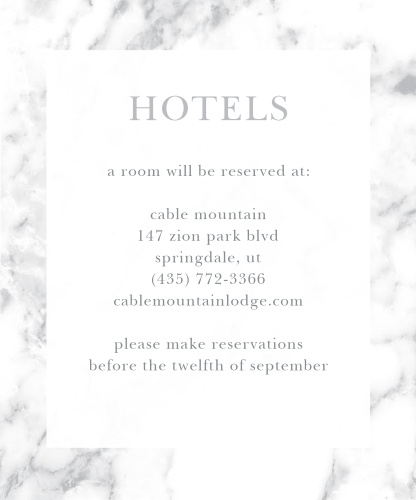 Cool Marble Accommodation Cards