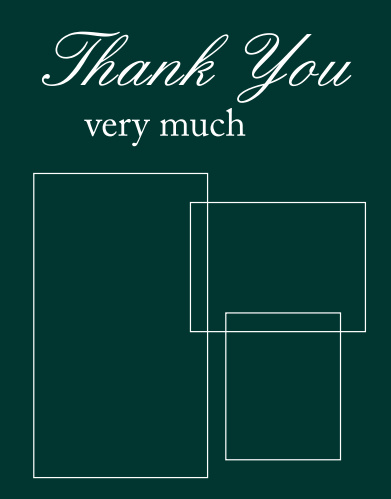 Stacked Photo Thank You Card