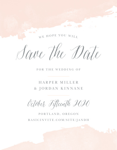dip dye save the date cards