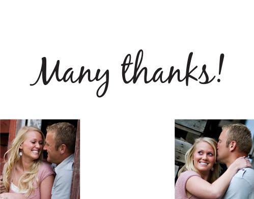 Opaque Photo Flair Thank You Card