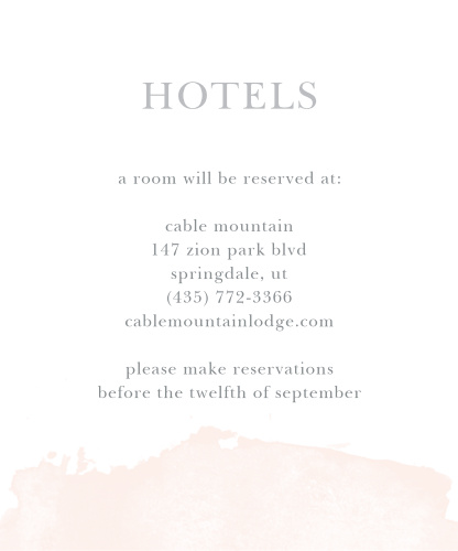 Dip Dye Accommodation Cards