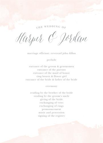Dip Dye Wedding Programs