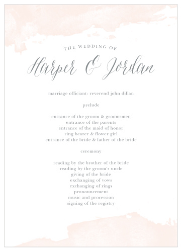 Wedding Programs   Match Your Colors & Style Free! - Basic