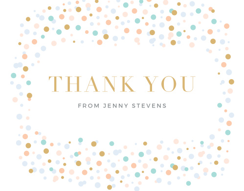 Dancing Dots Foil Thank You Cards