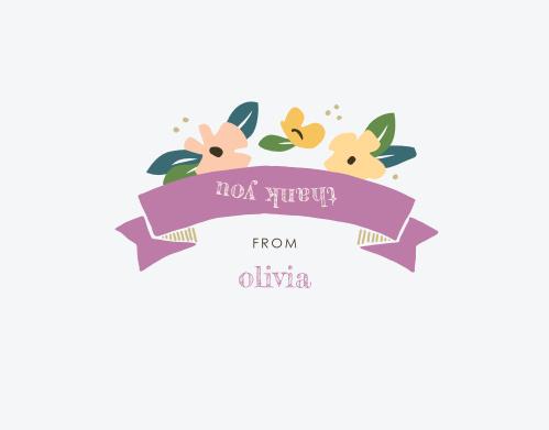 Peachy Florals Milestone Birthday Thank You Cards