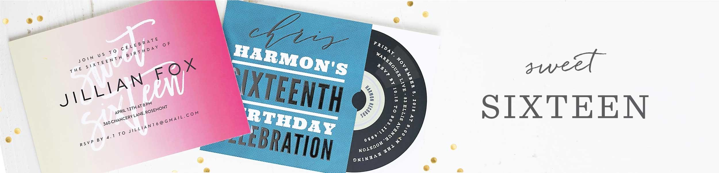 VIP Pass Sweet Sixteen Party Invitations