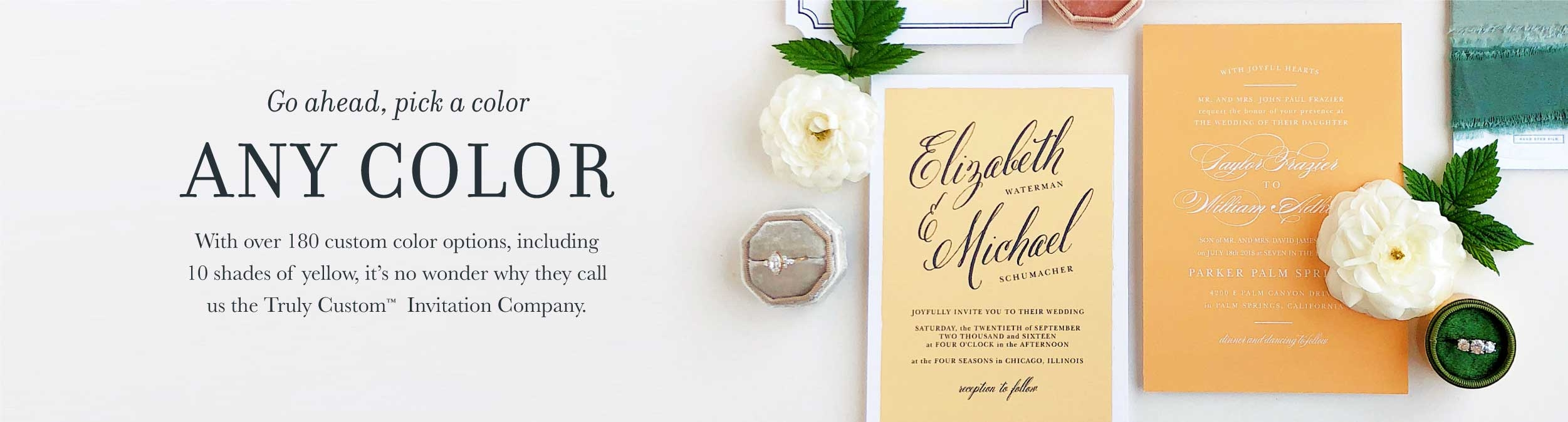 0293b1017852a Modern Calligraphy Clear Wedding Invitations