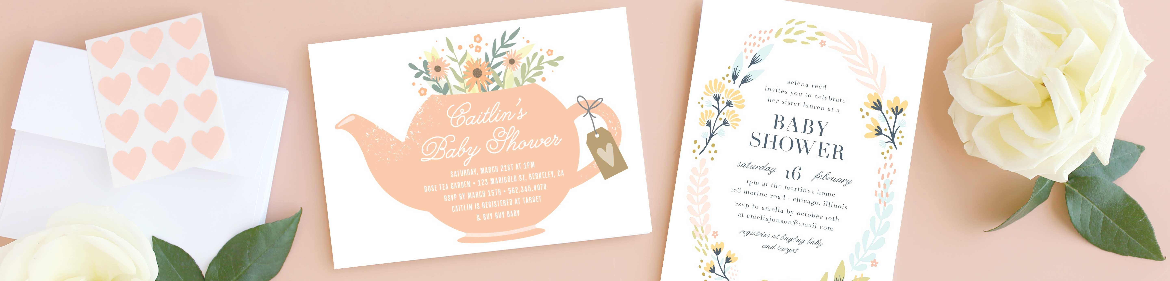 Tutu Excited Baby Shower Invitations