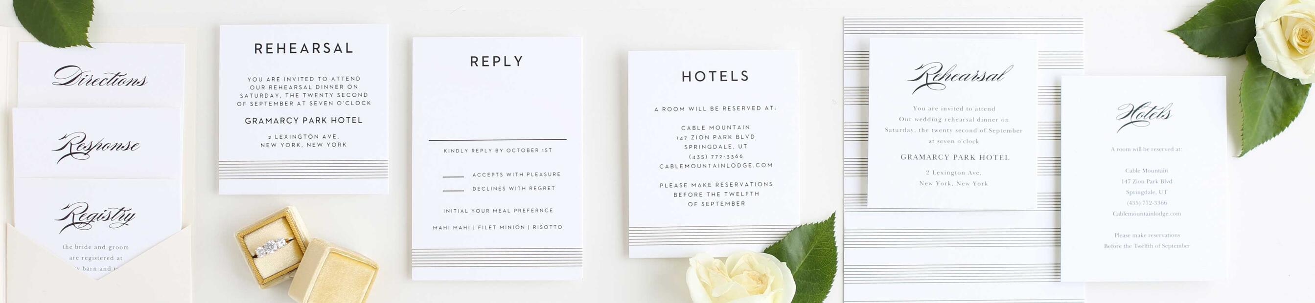 Wedding Enclosure Cards by Basic Invite, Photos 3+ Photos