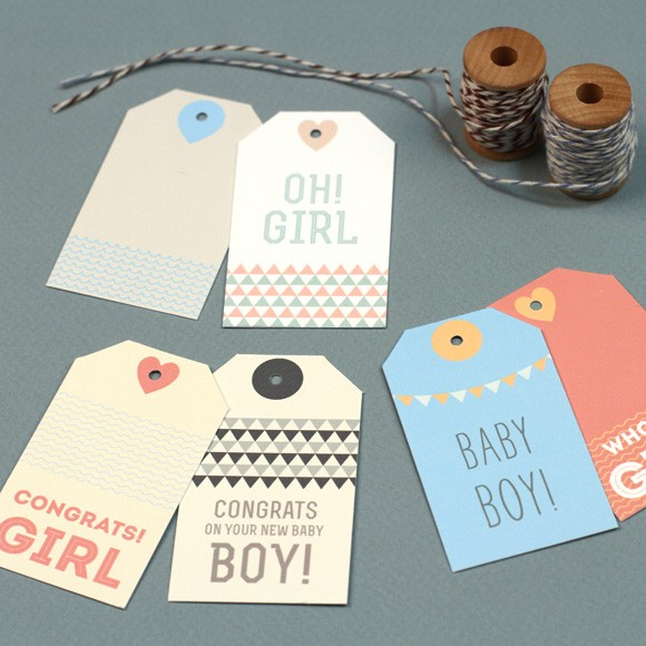 photograph about Printable Baby Gift Tags called Refreshing Child Present Tags Printable through Easy Invite