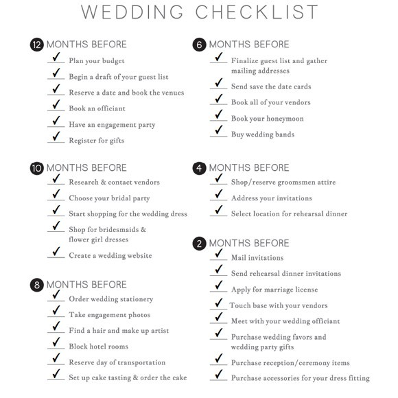 wedding checklist printable 1