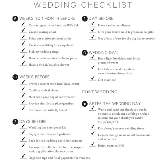 wedding checklist printable 1 1