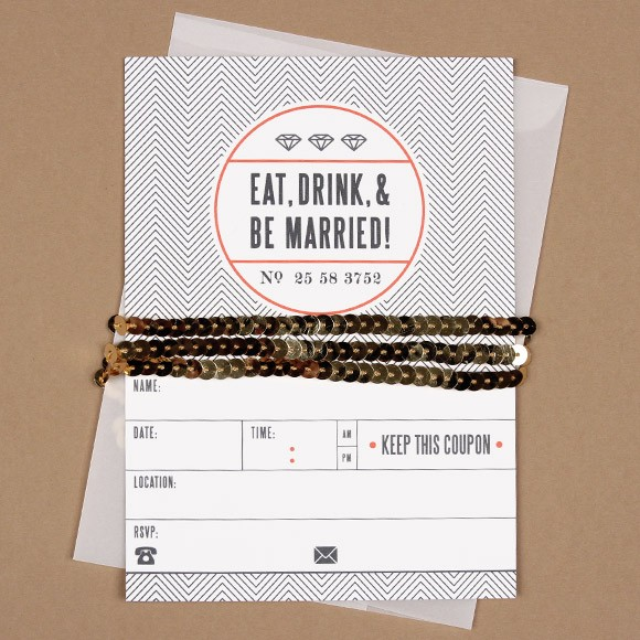 Eat Drink And Be Married Card By Basic Invite