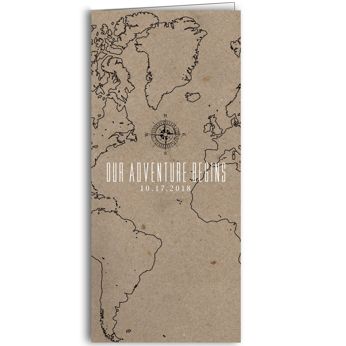 Wedding Invitation Map | The Adventure Begins Map Wedding Invitation