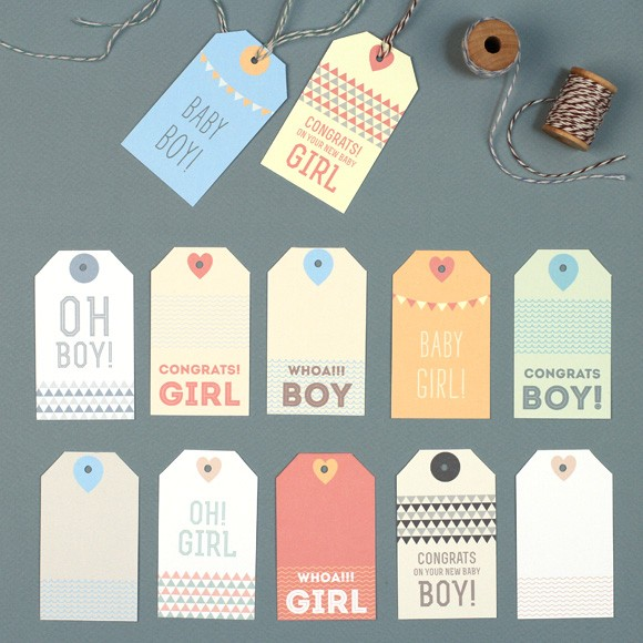 New Baby Gift Tags Printable
