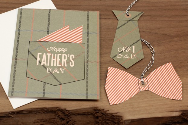 Dads Pocket Square Card and Gift Tags Printable