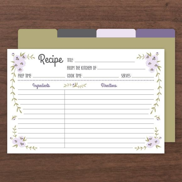 Rustic Recipe Cards