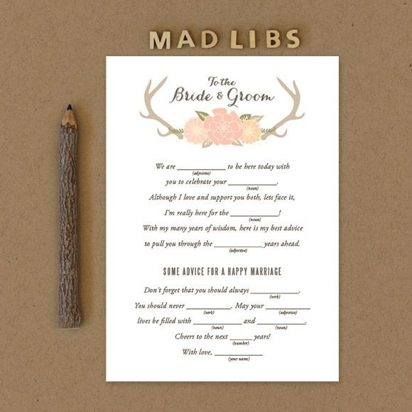 Blooming Antlers Mad Libs  Printable
