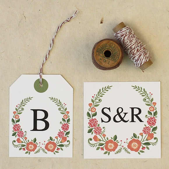 Floral Favor Tags  Printable