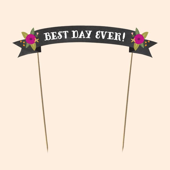 Chalkboard Cake Toppers Printable