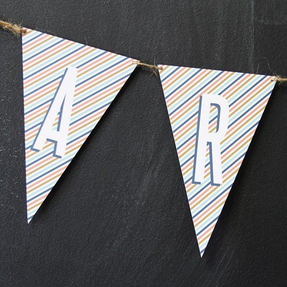 Party Bunting Flags Blue Printable