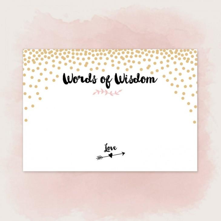 Gold Confetti Words of Wisdom