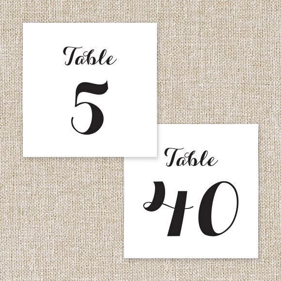 Float Away Table Numbers