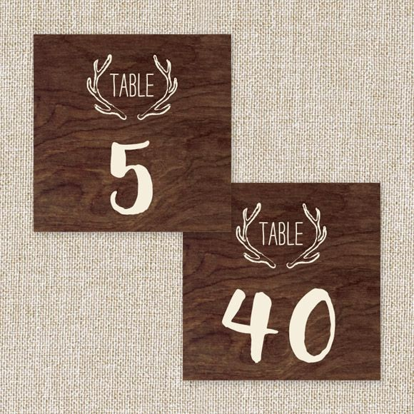 Backcountry Table Numbers