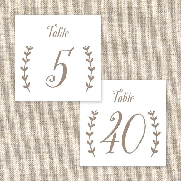 Back to Nature Table Numbers