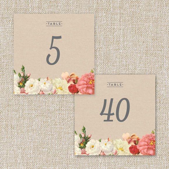Le Jardinier Table Numbers