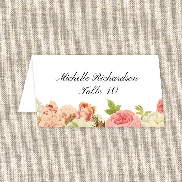 Alluring Florals Place Card