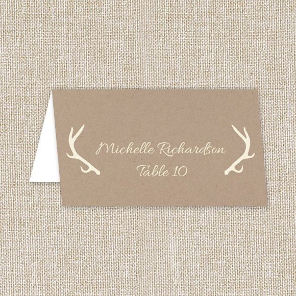 Blooming Antlers Place Card