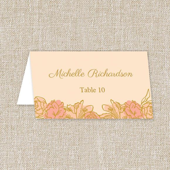 Elegant Blooms Place Cards