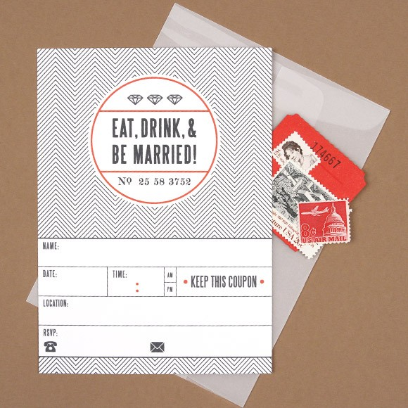 Eat Drink and Be Married Card