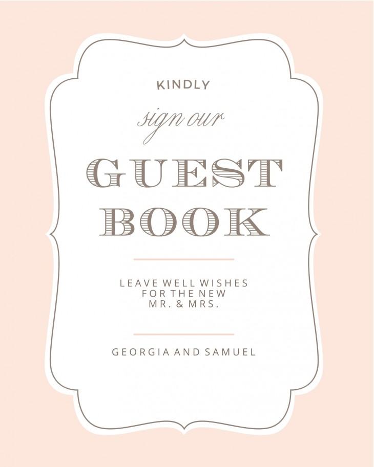 Vintage Frame Guest Book Sign Printable