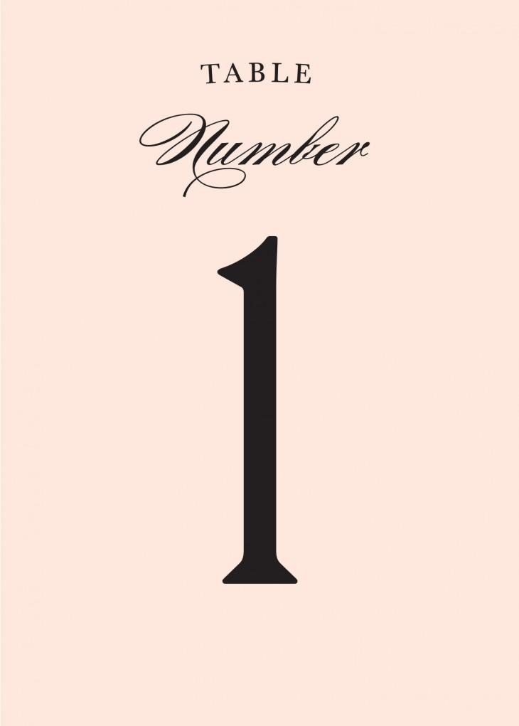 Minimal Ampersand Table Numbers Printable