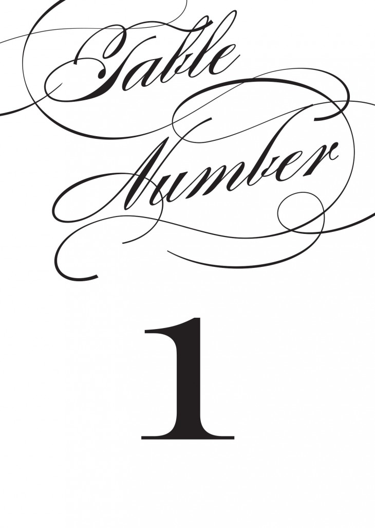 Simplicity Table Numbers Printable