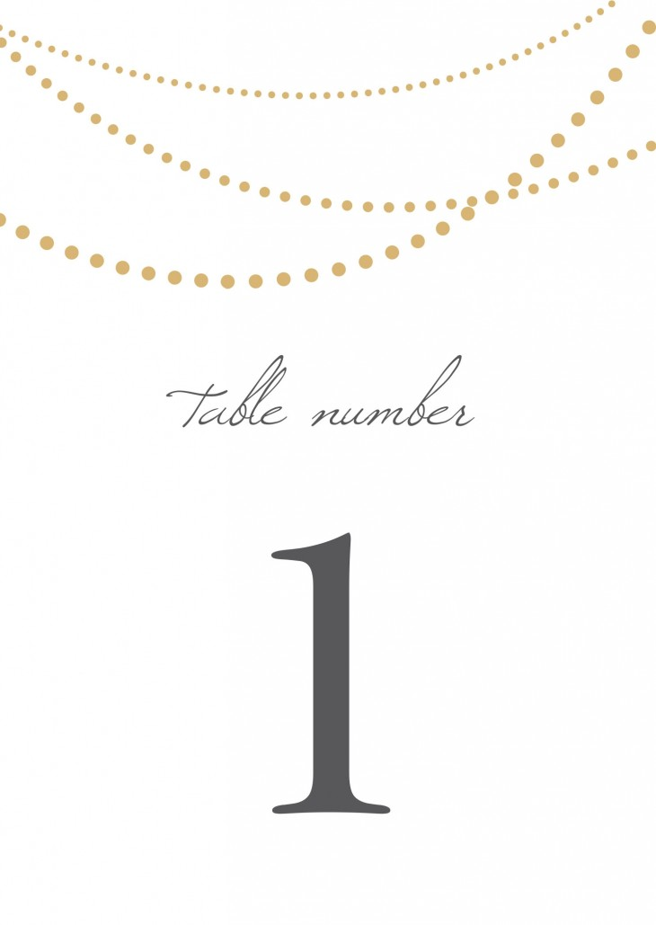 String Lights Table Numbers Printable