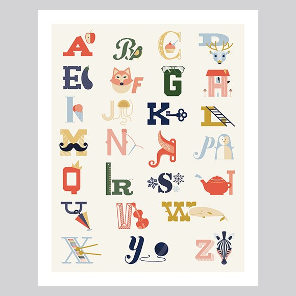 picture about Alphabet Poster Printable named Alphabet Poster - Hefty Printable via Uncomplicated Invite