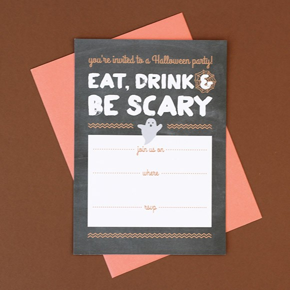 photograph regarding Printable Halloween Party Invitations titled Halloween Occasion Invitation Printable as a result of Very simple Invite