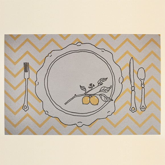 photo relating to Printable Placemat known as Lemon Placemat Printable as a result of Simple Invite