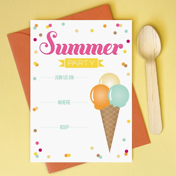 photo regarding Printable Party Invitations identified as Summer season Get together Invitation Printable via Straightforward Invite