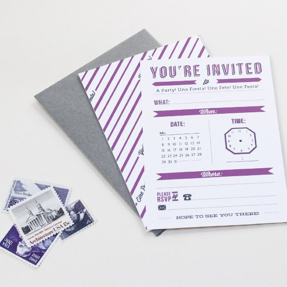 Time Card Invitation Printable By Basic Invite